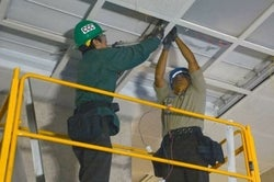 California Conservation Corps - lighting work in courthouses
