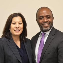 Chief Justice Tani Cantil- Sakauye and State Superintendent of Public Instruction Tony Thurmond