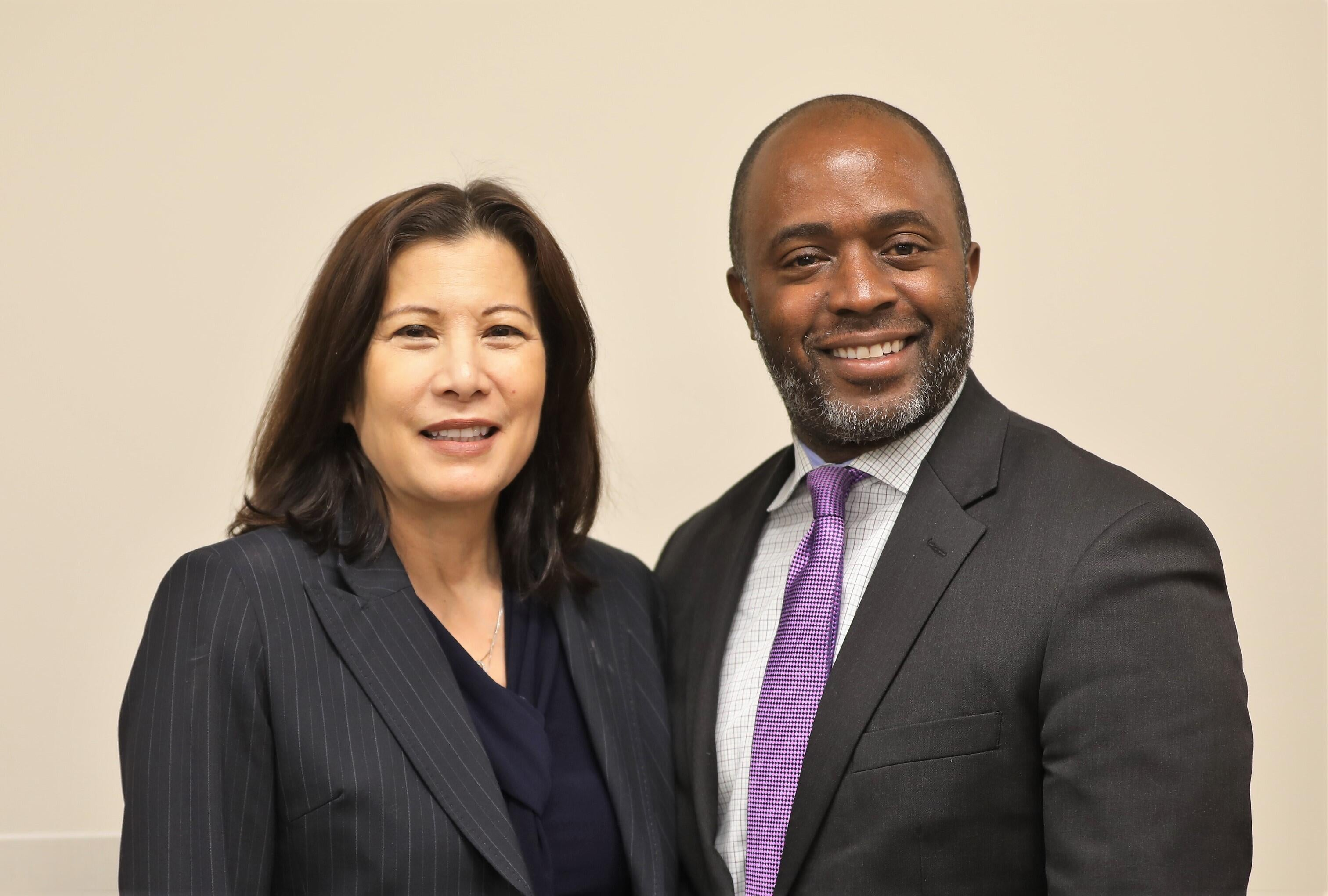 Chief Justice Tani Cantil-Sakauye and State Superintendent of Public Instruction Tony Thurmond