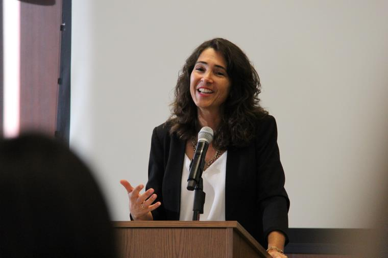 Judge Julia Alloggiamento, chair of the court's Community Outreach Committee.