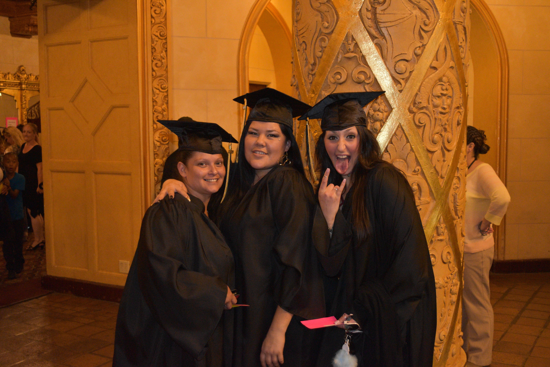 Graduates of San Joaquin's Collaborative Courts Program celebrate at the Bob Hope Theater in Stockton.