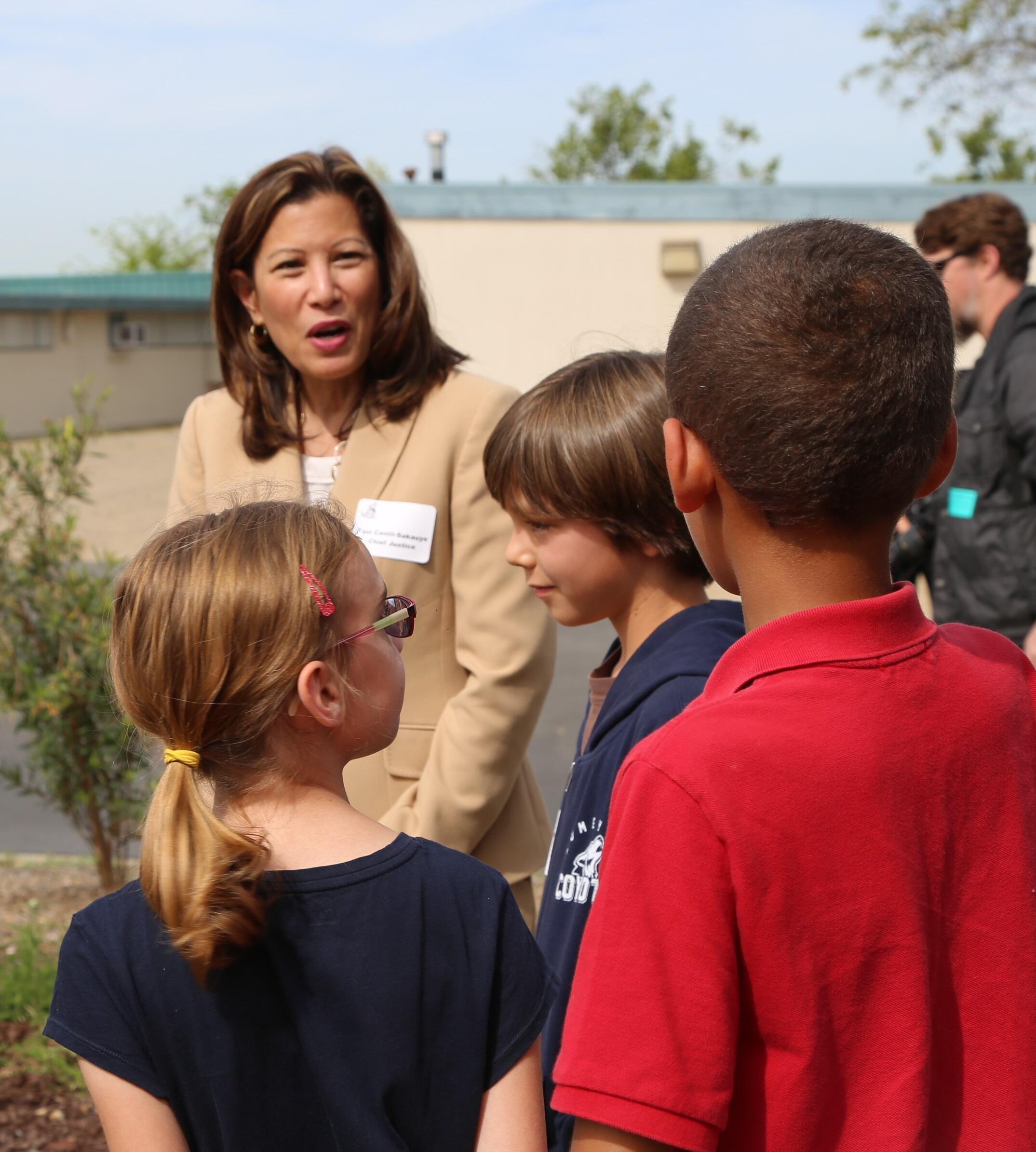 Chief Justice visits Civic Award Learning School