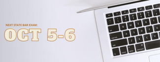 graphic of laptop keyboard on white canvas with text that says next exam date Oct 5-6