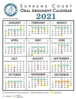 supreme court calendar for 2021