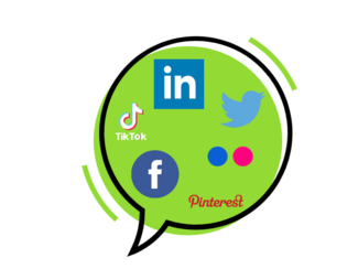 speech bubble of socialmedia