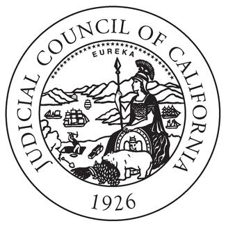 Judicial Council seal in black