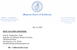screenshot of letter from court