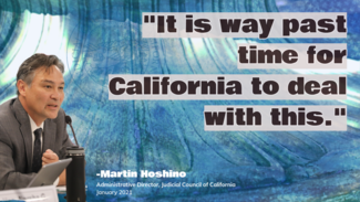 martin hoshino speaking quote it is way past time for California to deal with this unquote