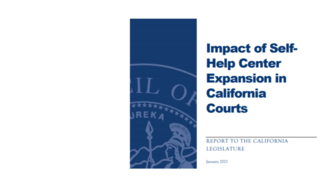 report cover Impact of self-help center expansion