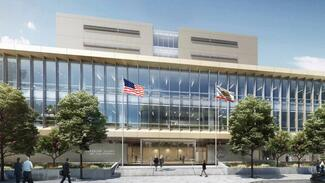 Rendering of new Modesto courthouse