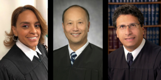 Left to right: Commissioner Belinda Handy; Judge Kenneth K. So; Judge George J. Abdallah, Jr.