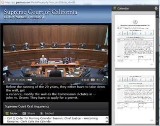 California Supreme Court Webcasts