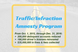 Traffic Infraction Amnesty Program Ending