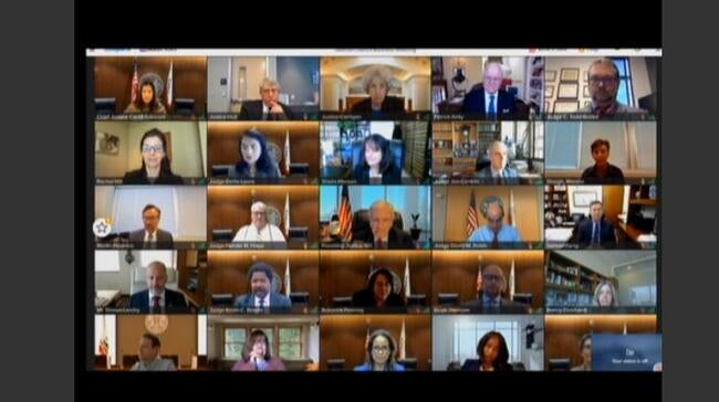 screen capture of webcast of council meeting